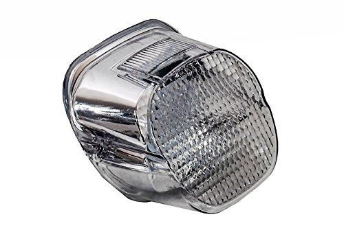Clear Lens OZ-USA CHROME Tail Brake Led Light Harley Davidson Motorcycle Stop Lamp