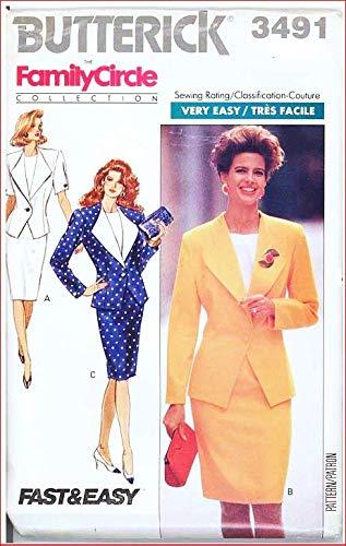 S Butterick 3491 - Patrones de Costura para Chaqueta, Falda y ...