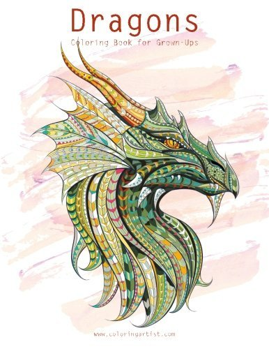 Amazon Dragons Coloring Book For Grown Ups 1 2 9781533170125 Nick Snels Books