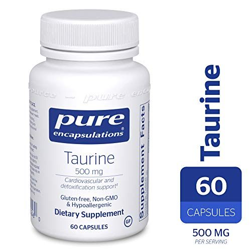 Pure Encapsulations - Taurine 500 mg - Hypoallergenic Supplement to Support Brain, Heart, Gallbladder, Eyes, and Vascular System* - 60 Capsules ()
