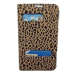 ZXM-Hermosa modelo del leopardo de la PU Leather Case cuerpo completo con soporte para Samsung N7100