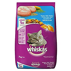 Whiskas Adult (+1 year) Dry Cat Food Food, Ocean Fish Flavour, 7kg Pack