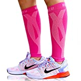 Blitzu Calf Compression Sleeve Socks One Pair Leg Performance Support for Shin Splint & Calf Pain Relief. Men Women...