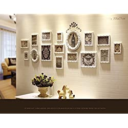 KTYX Vertical European Photo Wall Decoration Photo Frame Creative Solid Wood Hanging Wall Background Picture Frame Wall Living Room Bedroom Door Decoration 16 Art picture frame