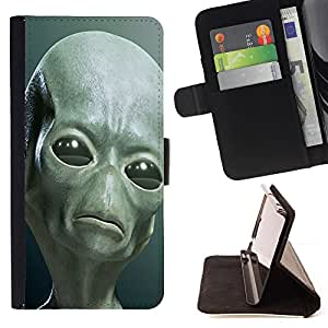 - Skull Devil Diablo Extraterrestrial - - Premium PU Leather Wallet Case with Card Slots, Cash Compartment and Detachable Wrist Strap FOR Sony Xperia Z2 L50t L50W L50U King case