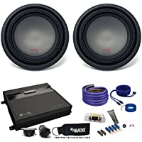 Two Alpine R-Series 12 Subwoofers & MB Quart ZA2-1000.1D 1000 Watt Amplifier & Wiring Kit