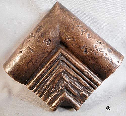 Chair Rail Out Corner (Bronze) by Metal Tile Arts - Rails Tile