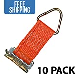 New E-Track Rope Tie Off 10-PACK - Shippers Supplies - Orange Rope Tie Offs for Securing Loads in your Trailer, Truck, Pickup, and More! (Orange)