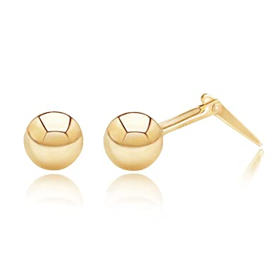 d5b0d023a 9ct yellow gold Andralok 5 mm ball stud earrings / Gift box included:  Amazon.co.uk: Jewellery
