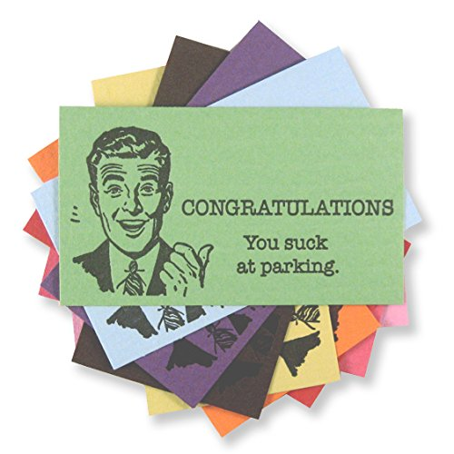 Congratulations, You Suck at Parking Cards, 15 letterpress cards, by Inviting Letterpress Boutique