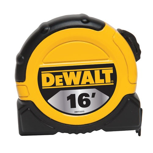 DEWALT DWHT33372L 1 1/8-Inch x 16-Foot Short Tape, 10-Foot Stand Out