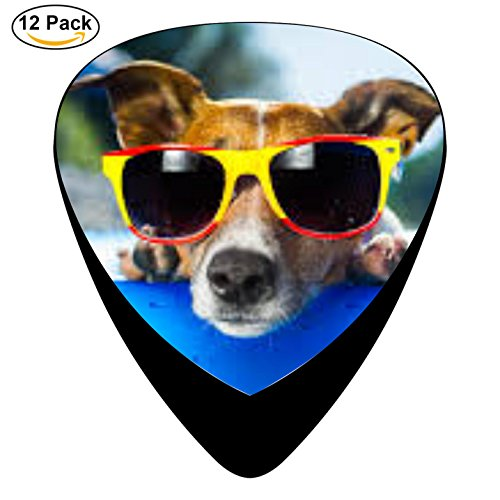 Dog Swimming Wear Glasses Celluloid Guitar Picks 12 Pack Includes Thin,Medium,Heavy Gauges For Electric Acoustic - Celluloid Glasses