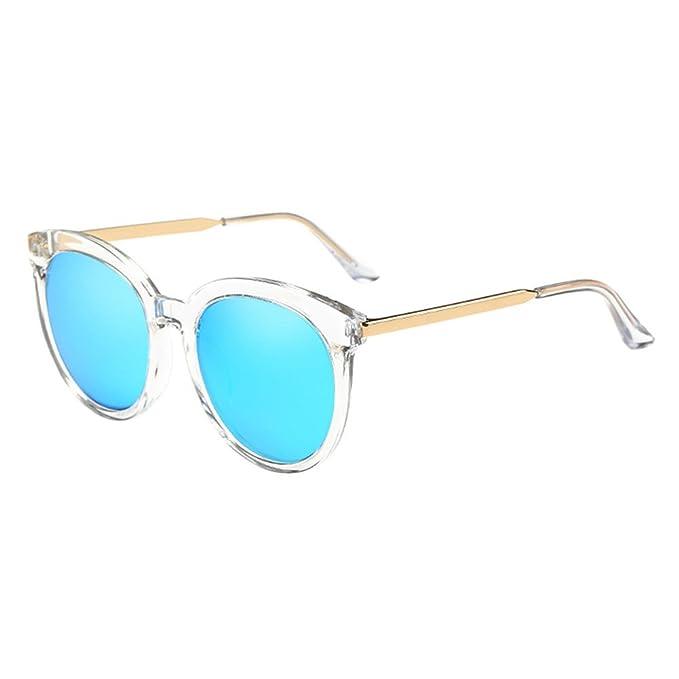 c81fe5f609 Hzjundasi Marco redondo Metal Marco Espejado Polarizado Miopía Gafas de  protección Demasiado grande Gafas de sol: Amazon.es: Ropa y accesorios