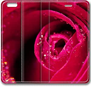 E-luckiycase Leather Cover Red Rose Close Up Case For Ipod Touch 4 Cover Case (Inch)