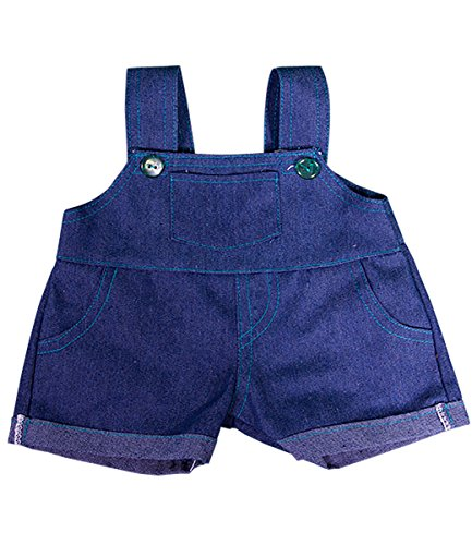 Denim Overalls w/Teal Stitching Teddy Bear Clothes Fits Most 14