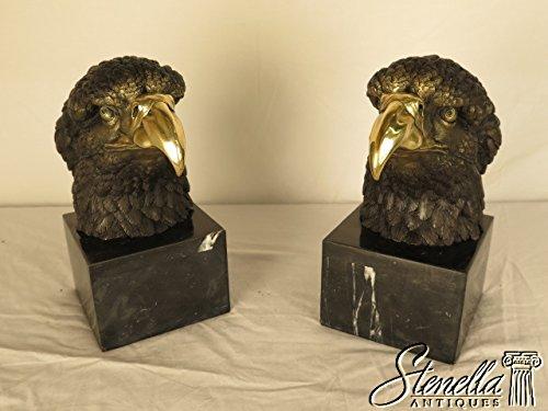 Pair Two Tone Bronze Eagle Head Statue Bookends Model AL-018 ~ (Eagle Head Bookends)