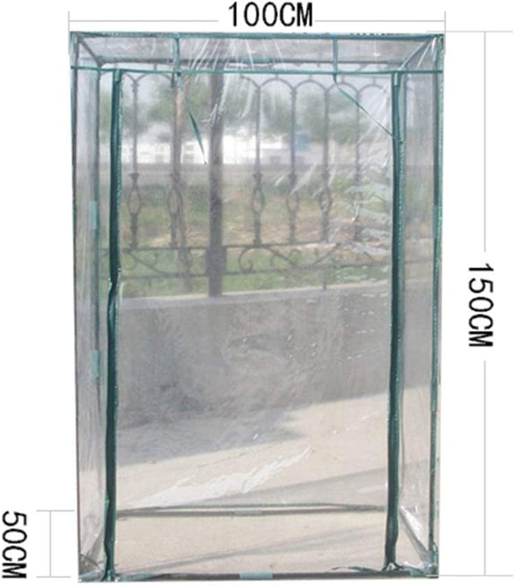 PVC Plant Greenhouse Cover Tomato Garden Tent Herb and Flower Garden Green House Replacement Accessories Without Iron Stand