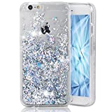 LEECOCO iPhone 5C Case Unique Creative 3D Diamond Floating Quicksand Shiny Bling Glitter Flowing Liquid Transparent Clear Hard PC Protective Case for iPhone 5C [Diamonds] Silver