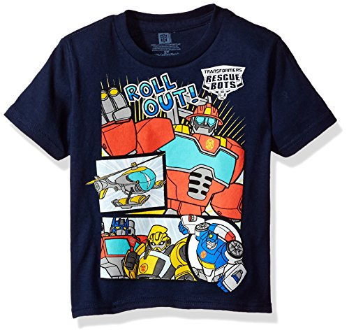 Transformers Boys' Toddler Roll Out Short Sleeve T-Shirt, Navy 3T ()