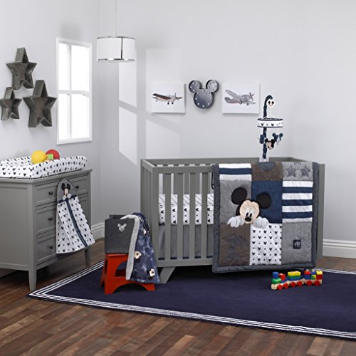 Denim Crib Bedding (Disney Baby Mickey Mouse