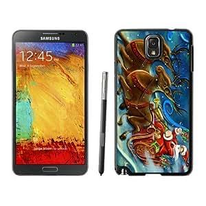 Diy Design Santa Claus and Deer Black Samsung Galaxy Note 3 Case 1