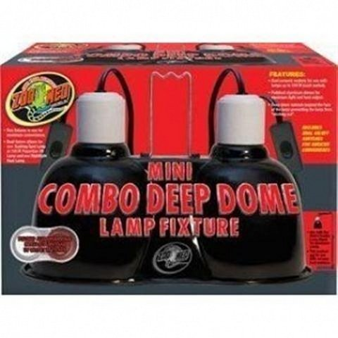Combo Lamp - Zoo Med Mini Combo Deep Dome Lamp Fixture