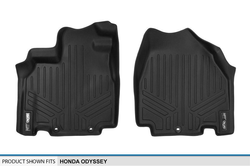 MAXLINER Floor Mats 1st Row Liner Set Black for 2011-2017 Honda Odyssey