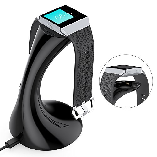 Fitbit Ionic Charger(4.72inch), YFFSUN Charging Stand Accessories Charging Dock Station Cradle Holder for Fitbit Ionic Smart Watch(black)