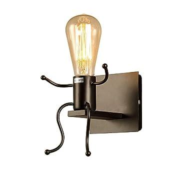 Fsth Créatifs Applique Murale Rétro Fer Vintage Lampe Murale Moderne