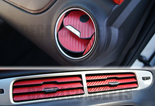 camaro red carbon fiber interior vent decal kit 2010 2015 buy online in uae products in. Black Bedroom Furniture Sets. Home Design Ideas