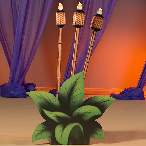 5 ft. 1 in. Vintage Tropical Luau Summer Tiki Torch Prop Standup Photo Booth Prop Background Backdrop Party Decoration Decor Scene Setter Cardboard Cutout -