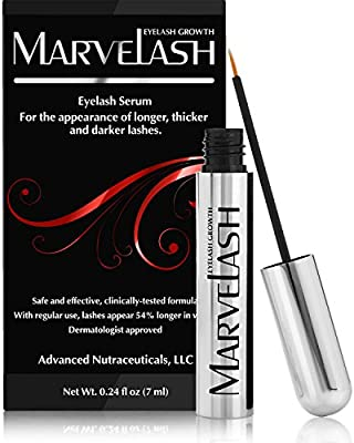 59131c84882 Best Eyelash Growth Serum: MARVELASH   Grows Eyelashes & Eyebrows Fast! For  Thicker Longer Stronger Lashes & Fuller Brows - Get Long Dark Sexy Lashes  in ...