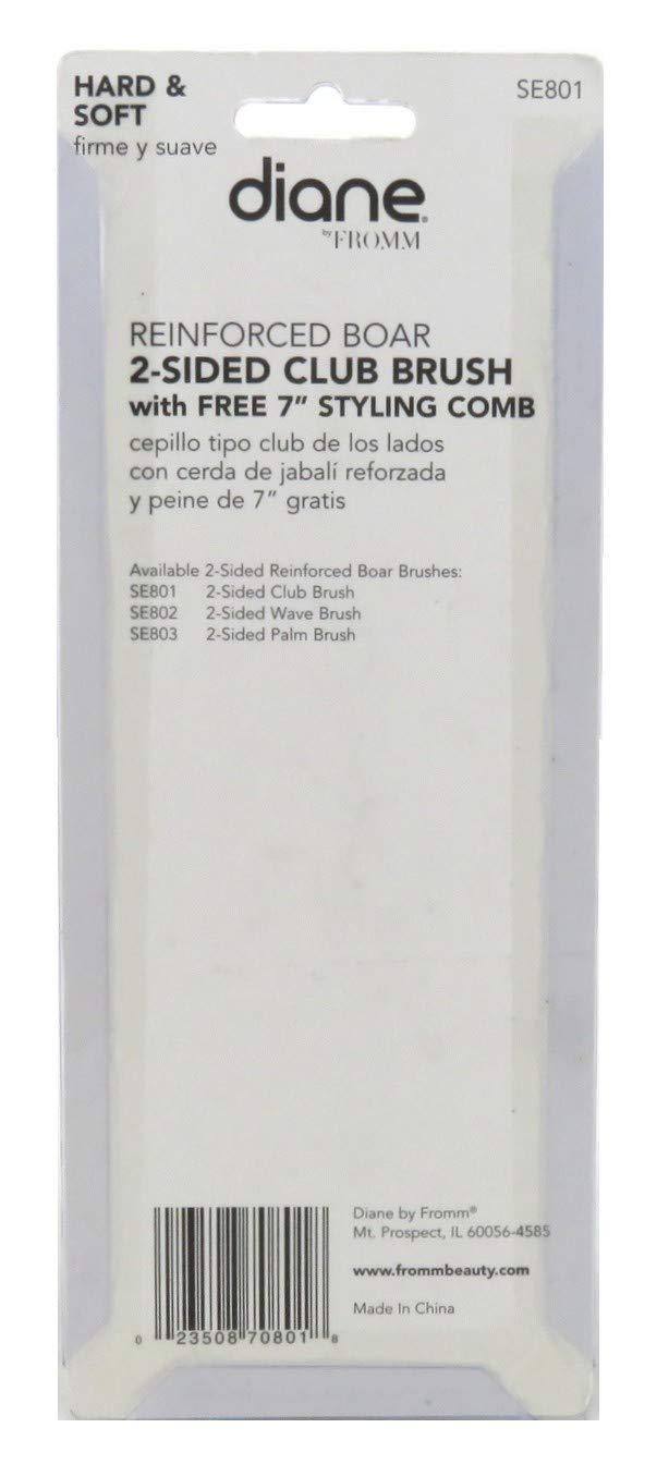 Amazon.com : Diane 2-Sided Club Brush Soft & Hard (12 Pieces) : Hair Brushes : Beauty