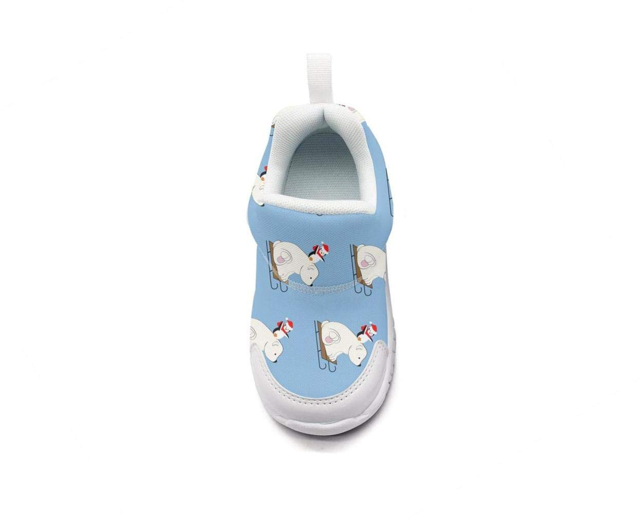 ONEYUAN Children The Polar Bear and Penguin Kid Casual Lightweight Sport Shoes Sneakers Walking Athletic Shoes