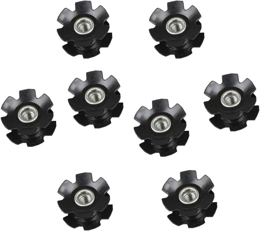 28.6mm ONGHSD 8Pcs//Set Universal Headset Star Nut Setting Tool Bicycle Fork Star Nut for Mountain Bicycle Road Bike Headset Star Nut for Fork 1-1//8 inch