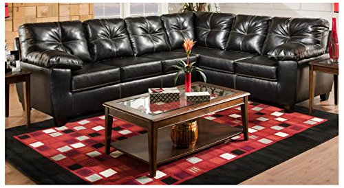 Chelsea Home Furniture Ocean 2-Piece Sectional, Thomas Black