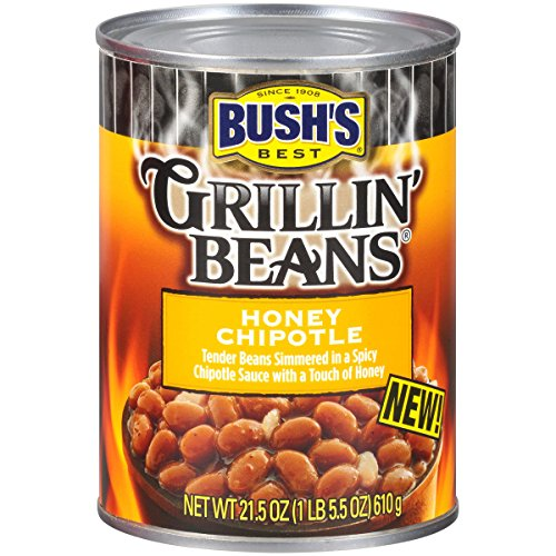 (BUSH'S BEST Honey Chipotle Grillin' Beans, 21.5 Ounce Can (Pack of 12))