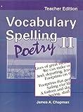 Vocabulary Spelling Poetry II: Teacher Edition, Grade 8