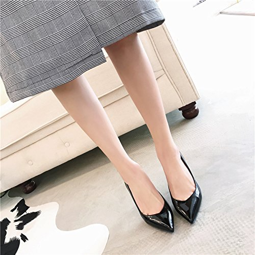 High Heels 8Cm Shoes Leisure Point Spring Elegant Black Nightclub MDRW A With Shallow Work Shoes Lady Mouth 37 Fine Paint Sexy 6aZxnpfw