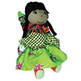 Collectible Worry Doll Traditional Handmade Fair Trade Bolivian Ethnic - Green