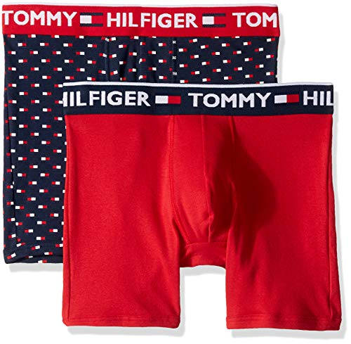 Tommy Hilfiger Men's Underwear 2 Pack Bold Cotton Boxer Briefs