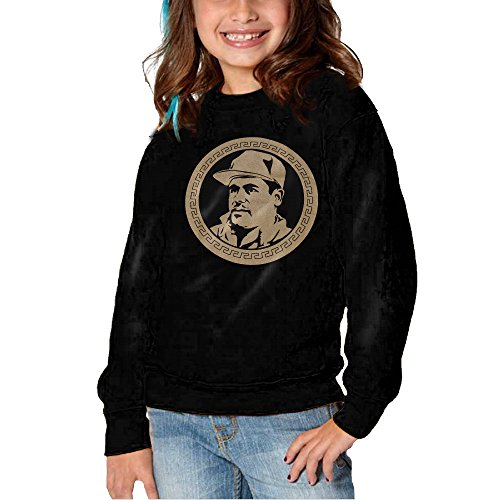 HNJK El Chapo Guzman Currency Girls&boys Soft And Cozy Crew Sweatshirts 5-6 Toddler