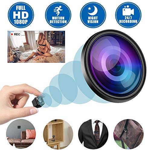 Mini Spy Camera Wireless Hidden, 2020 Full HD 1080P Small Cop Cam Covert Nanny Cameras, Micro Secret Security USB Camera with Night Vision and Motion Detection for Indoor and Outdoor