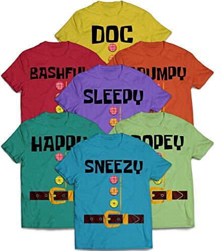 Costume Halloween Family Dwarf Doc Bashful Sleepy Grumpy Happy Sneezy Dopey Matching Customized Handmade T-shirt Hoodie/Sweater / Long Sleeve/Tank Top/Premium T-shirt -