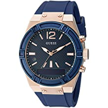 GUESS Women's Stainless Steel Connect Smart Watch - Amazon Alexa, iOS and Android Compatible iOS and Android Compatible, Color: Blue (Model: C0002M1)