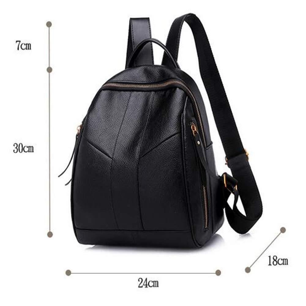 LIZHONG-SLT Fashionable Shoulder Bag, Women's Tide, Little Bag, Soft Leather PU Leisure Bag,Black,(Width 24cm Thickness 18cm high 30cm) by LIZHONG-SLT (Image #7)