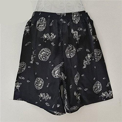 Pantaloni Notte Elastico Pantaloncini Uomo Shorts Stampa Vita Pigiama Taglie Nero Moda Casuale Sciolto Forti Da In wq15t1nP