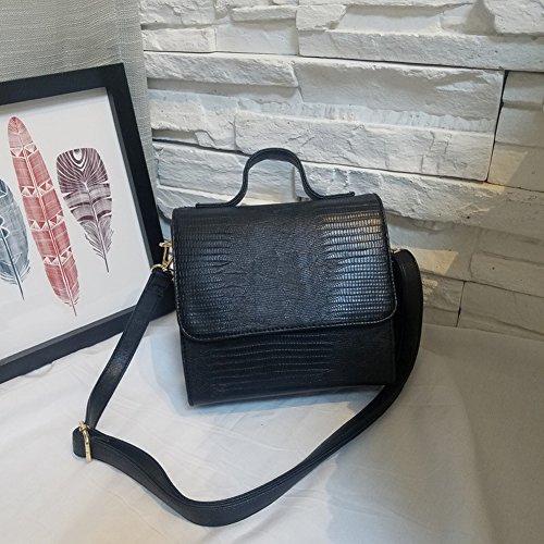 Handtaschen Retro Stereotypen Pu Kleine Quadratische Tasche Weibliche Krokodil Muster Handtasche Messenger Bag , braun