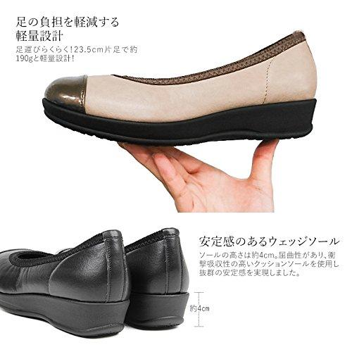 (アーチコンタクト) ARCH CONTACT 日本製 コンフォート パンプス レディース 歩きやすい オブリークトゥ トリプルクッション