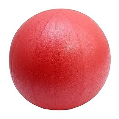 ODN Rouge Ballon de gymnastique Anti-éclatement Forme Physique Balle Boule de Yoga Ballon de gym 25CM avec Pompe pour maison